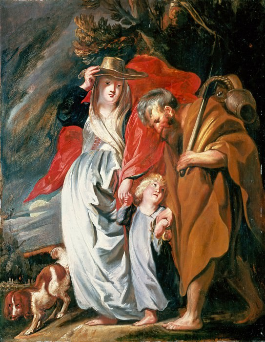 Jacob Jordaens (1593-1678) - Return of the Holy Family from Egypt. Part 2