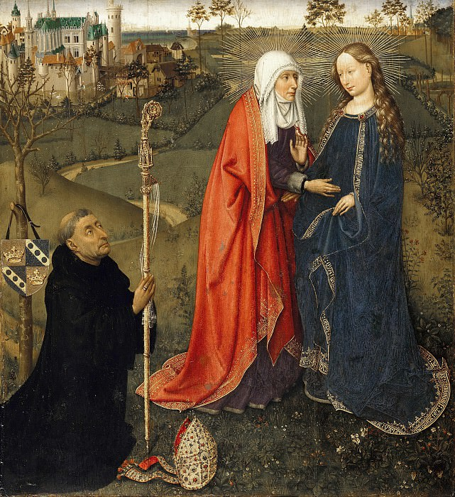 Jacques Daret (c.1403-1470) - The Visitation. Part 2