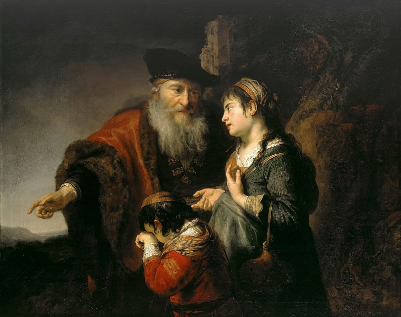 Govaert Flinck (1615-1660) - The expulsion of Hagar. Part 2