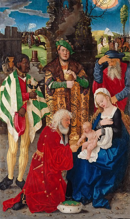 Hans Baldung (c.1485-1545) - Three Kings Altarpiece - Adoration of the Kings. Part 2