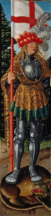 Hans Baldung (c.1485-1545) - Three Kings Altarpiece - St. George. Part 2