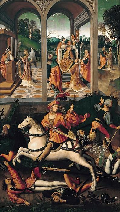 Jacob Cornelisz van Oostsanen (c.1470-1533) - Legendary Scenes from the Life of St. Hubertus Liege. Part 2
