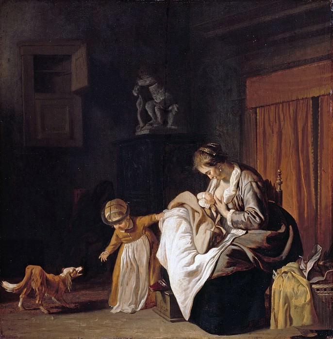 Jacob van Loo (c.1614-1670) - Mother with two children. Part 2