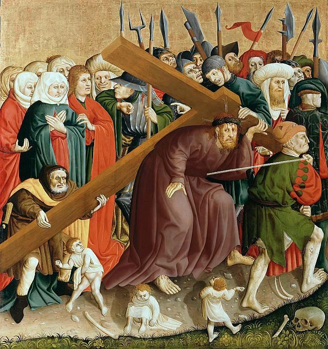 Мульчер, Ханс (c.1400-1467) - Вурцахский алтарь - Путь на Голгофу. Часть 2
