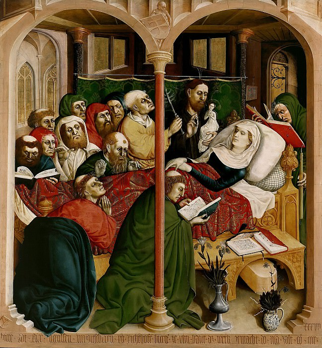 Hans Multscher (c.1400-1467) - Wurzach Altarpiece - Death of Mary. Part 2