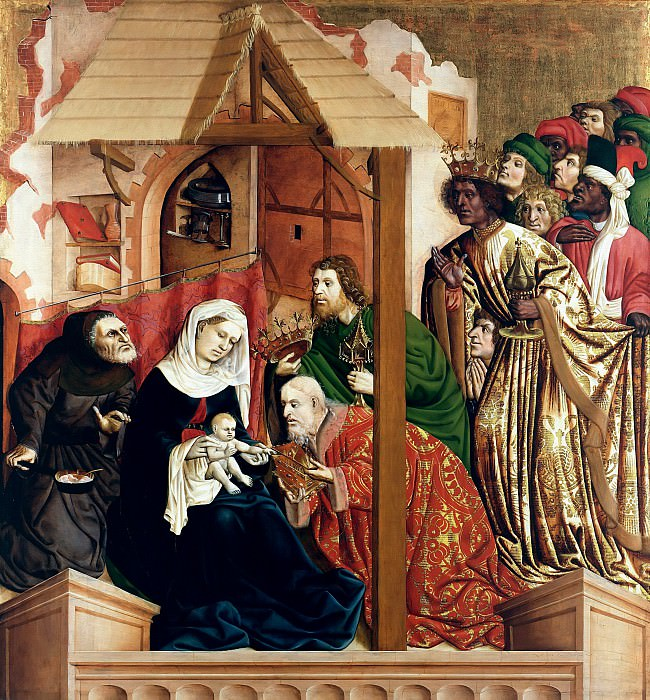 Hans Multscher (c.1400-1467) - Wurzach Altarpiece - Adoration of the Magi. Part 2