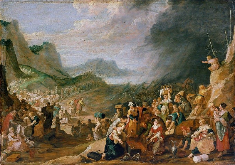 Hans Jordaens (1595-1643) - The train of the Israelites through the Red Sea. Part 2