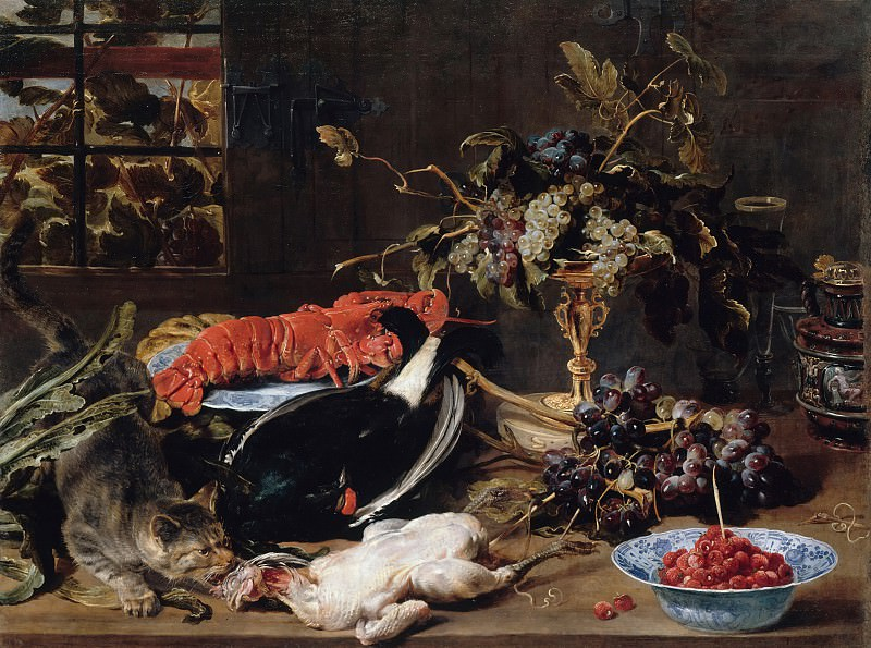 Frans Snyders (1579-1657) - Still life with lobster and fruit. Part 2