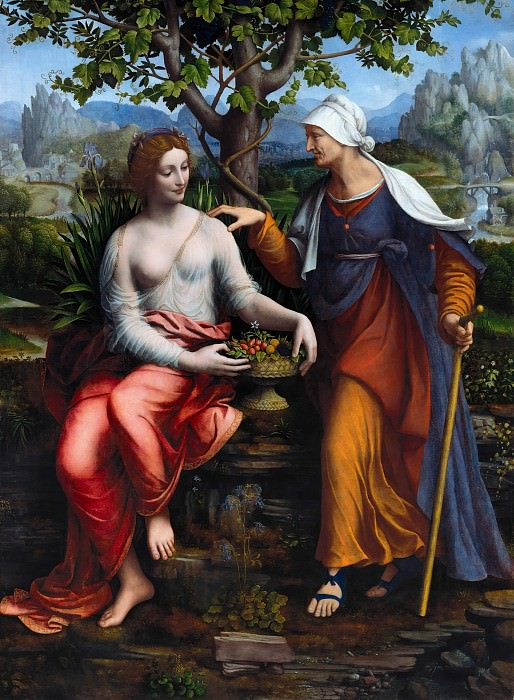 Francesco Melzi (1493-c.1570) - Vertumnus and Pomona. Part 2
