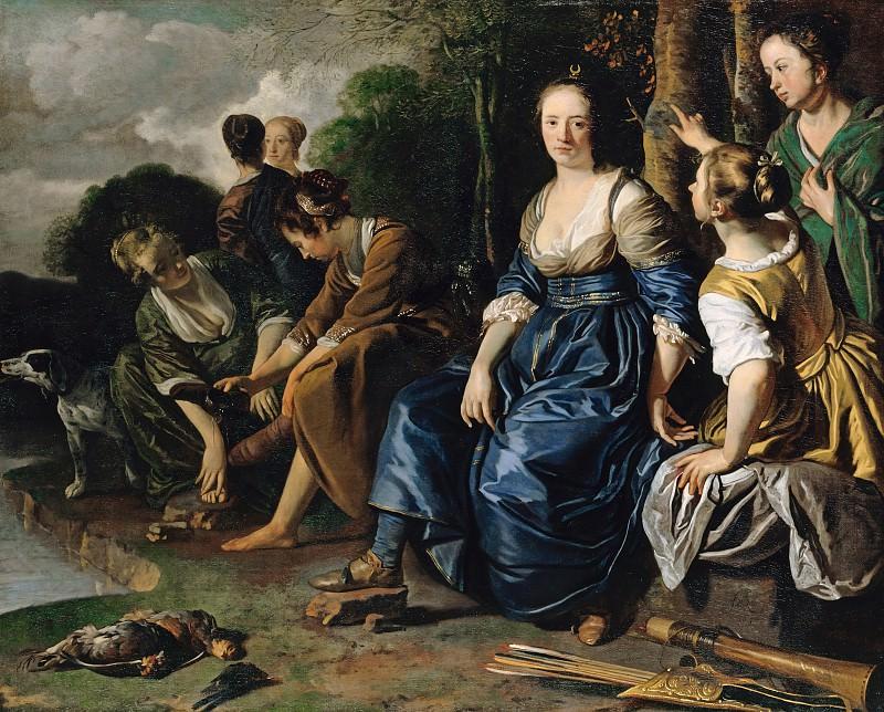 Jacob van Loo (c.1614-1670) - Diana and her Nymphs. Part 2