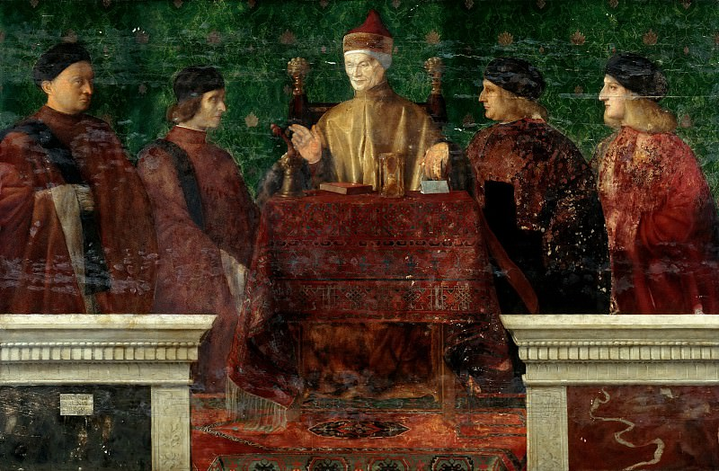 The Doge Leonardo Loredan with four Nobili. Giovanni Bellini