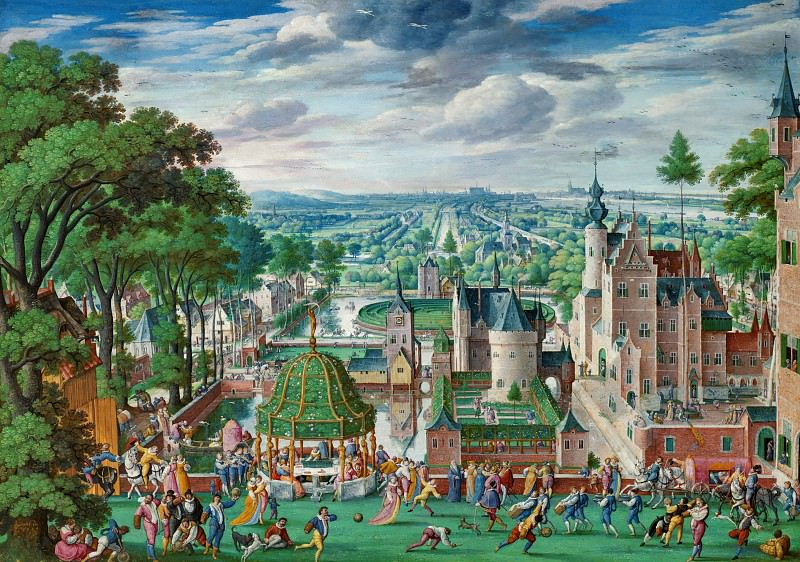 Hans Bol (1534-1593) - Park landscape with castle. Part 2