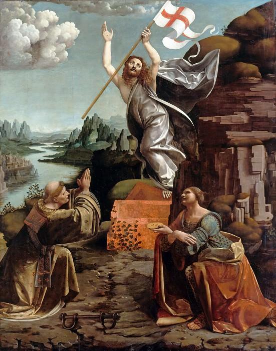 Giovanni Antonio Boltraffio and Marco da Oggiono - The Resurrection of Christ with SS. Leonard of Noblac and Lucia. Part 2