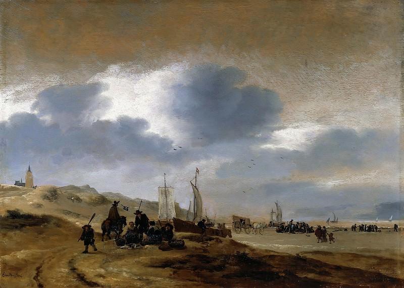 Egbert van der Poel (c.1597-1664) - Scheveningen beach. Part 2