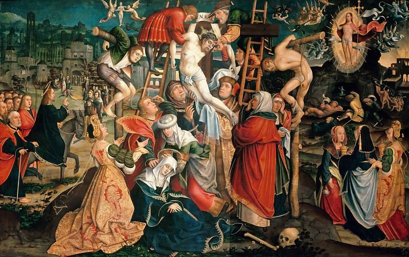 Jacob van Utrecht (c.1480-c.1540) - Descent from the Cross. Part 2