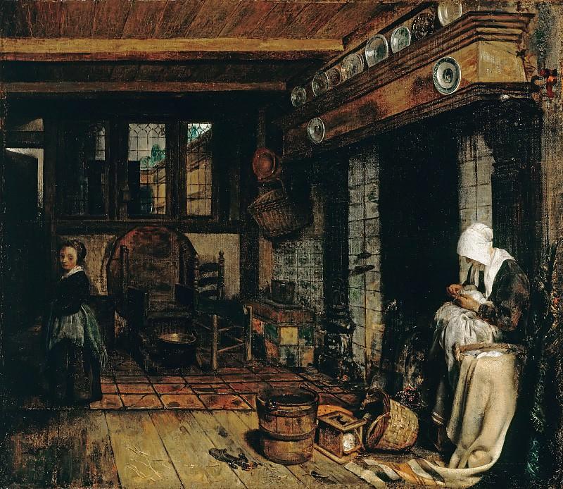 Бурсе, Эсайас (1631-1672) - Голландский интерьер с вышивающей женщиной. Часть 2
