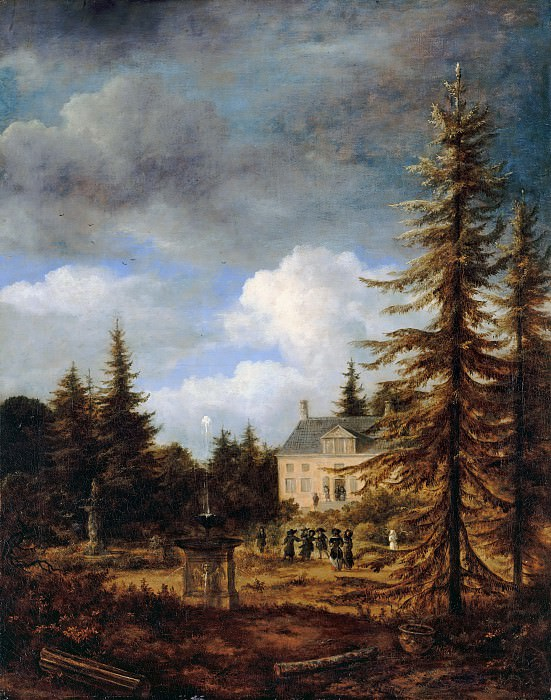 Jacob van Ruisdael (1628-29-1682) - The country house. Part 2