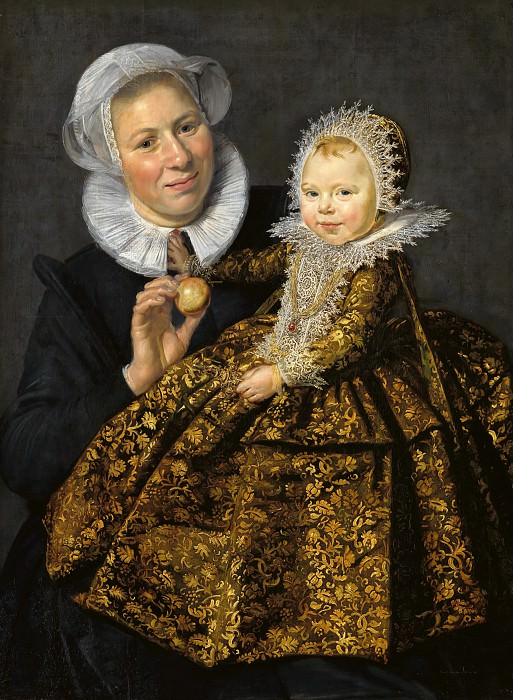 Frans Hals (1582-83-1666) - Catharina Hooft with her ​​nurse. Part 2