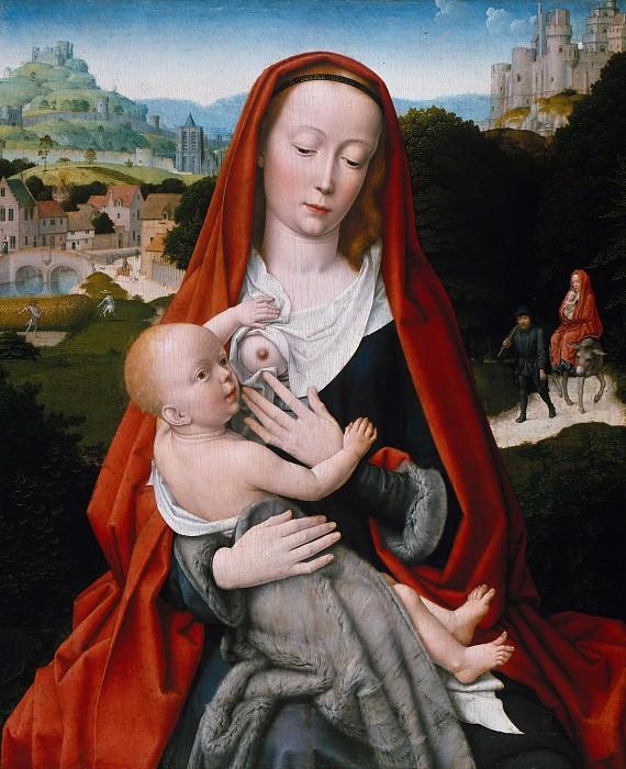 Gerard David (c.1460-1523) - Maria with the child. Part 2