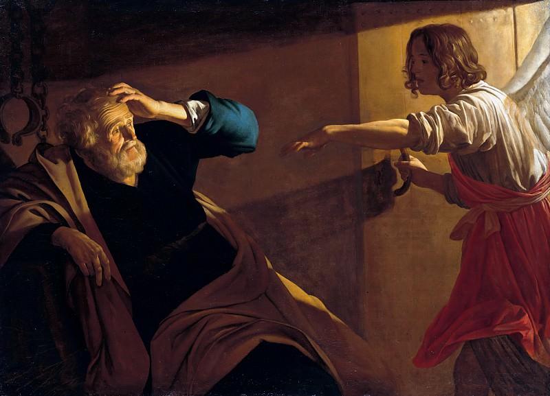 Хонтхорст, Геррит ван (1590-1656) - Освобождение св Петра из тюрьмы. Часть 2