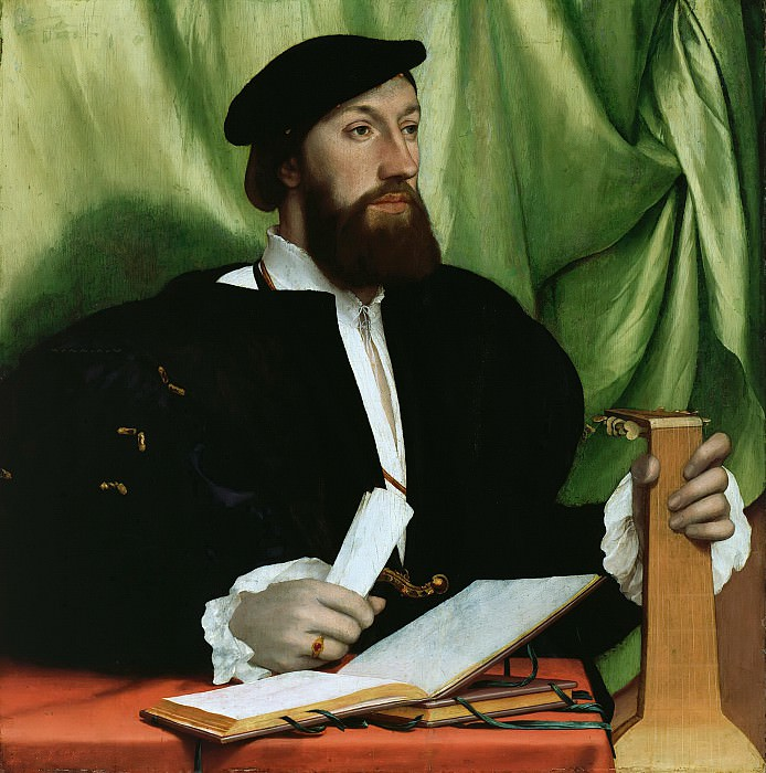 Hans Holbein II (1497-1543) - Portrait of a man with lute. Part 2