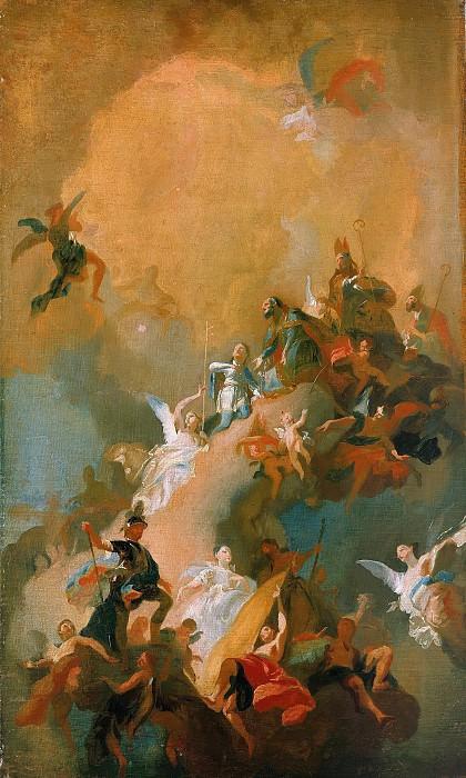Маульберч, Франс Антон (1724-1796) - Апофеоз венгерских святых. Часть 2