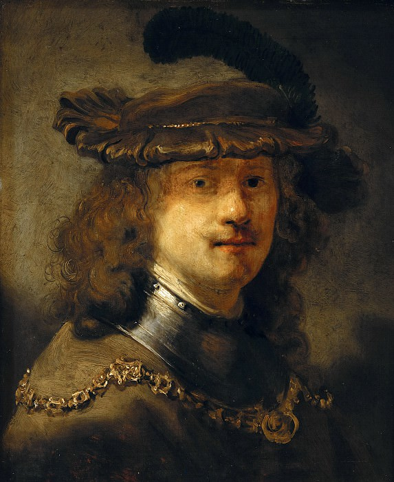 Govaert Flinck (1615-1660) - Rembrandt with an iron velvet beret and neck rail. Part 2