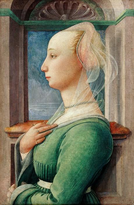 Fra Filippo Lippi (c.1406-1469) - Profile portrait of young woman. Part 2