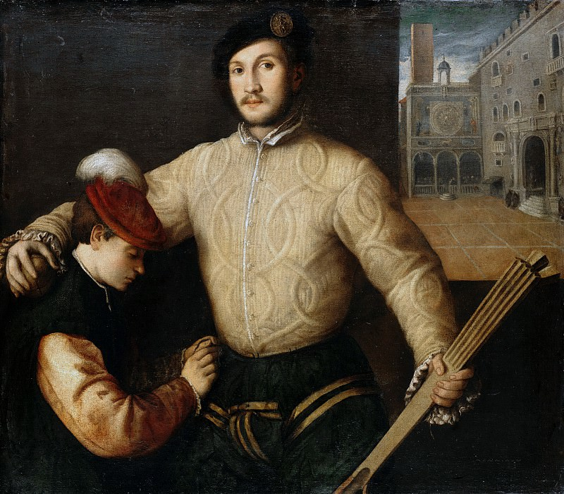 Francesco Beccaruzzi (1492-1563) - Portrait of a ball player with his page. Part 2