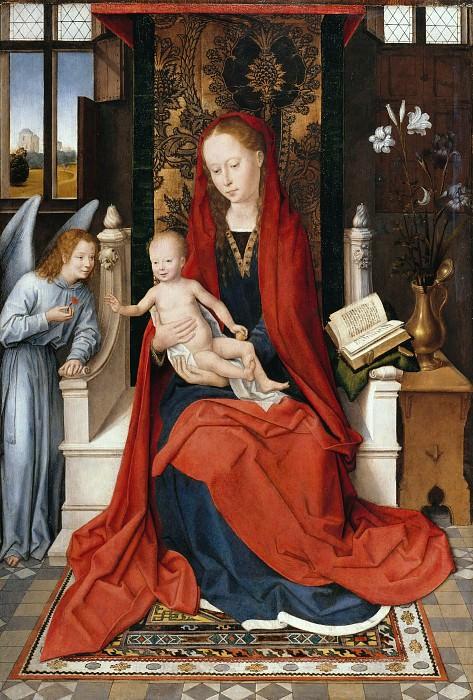 Мемлинг, Ганс (1433-35 - 1494) - Мадонна с Младенцем на троне. Часть 2