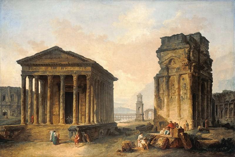 Робер, Юбер (1733-1808) - Руины храма в Ниме. Часть 2