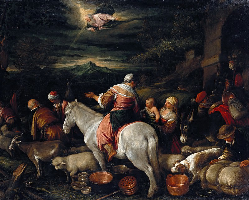 Jacobo Bassano (c. 1515-1592) - The extract of Abraham to Canaan. Part 2