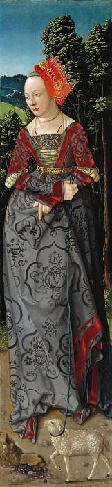Hans Baldung (c.1485-1545) - Three Kings Altarpiece - Saint Agnes. Part 2