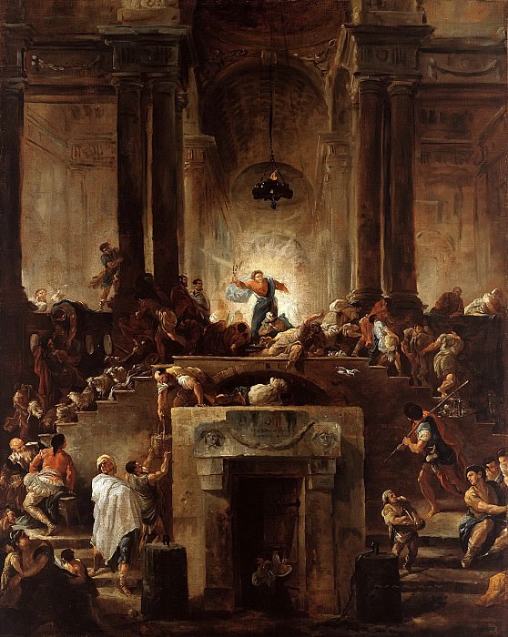 Hubert Robert (1733-1808) - Christ driving the moneychangers out of the temple. Part 2