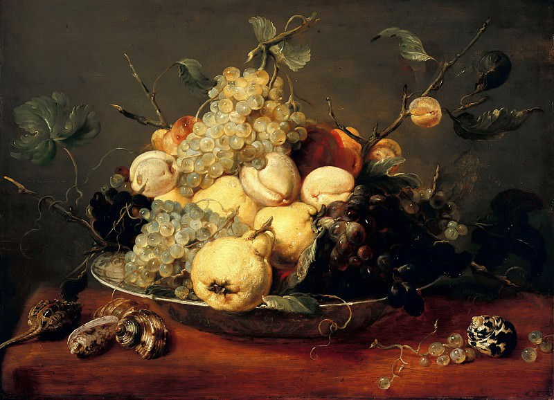 Frans Snyders (1579-1657) - Still life with fruit bowl. Part 2