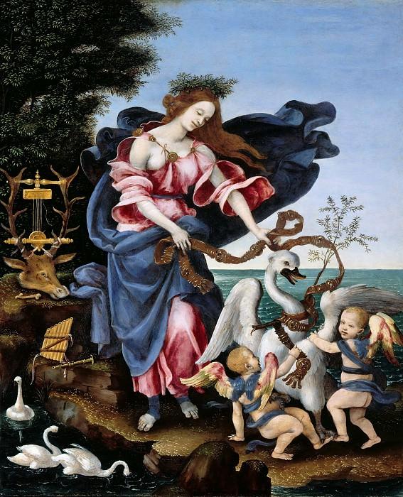 Filippino Lippi (1457-1504) - Allegory of Music (The Muse Erato). Part 2