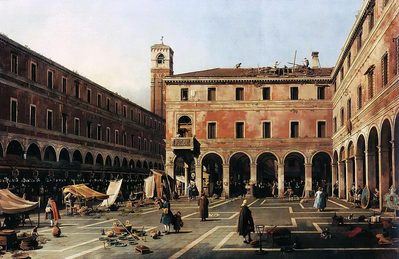 Canaletto (1697-1768) - The Campo di Rialto. Part 2