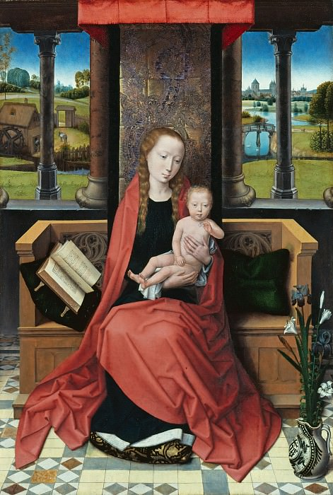 Hans Memling (1433-35 - 1494) - Enthroned Madonna with Child. Part 2
