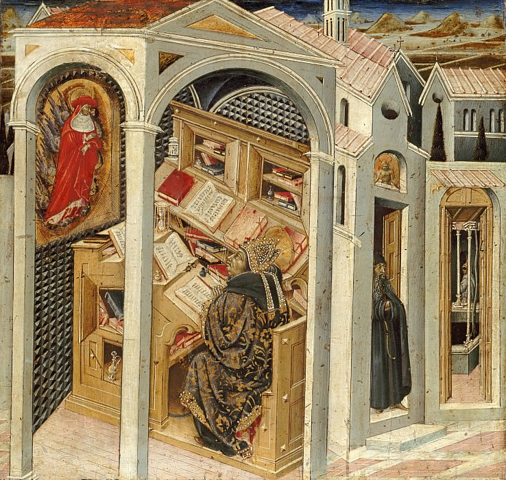 Джованни ди Паоло (1398-1482) - Явление св Августину св Иеронима. Часть 2