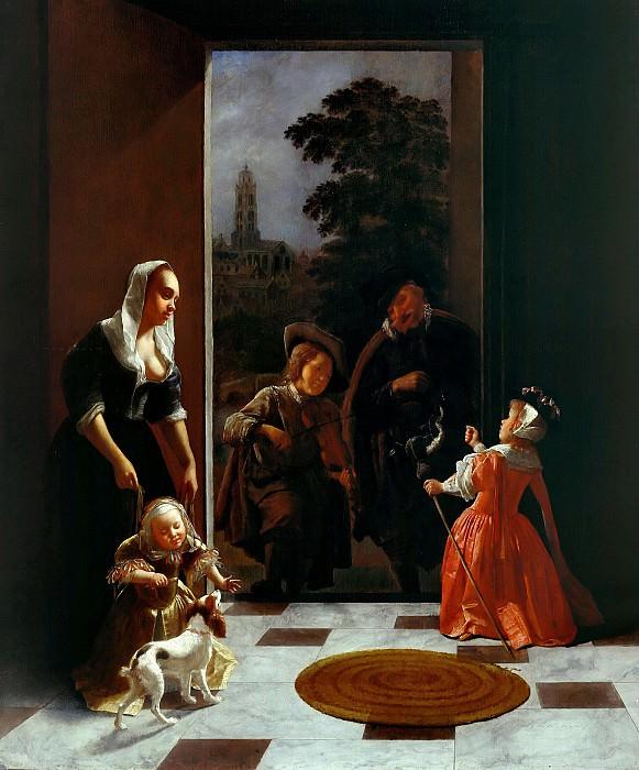 Охтервельт, Якоб (1634-1682) - Бродячие музыканты. Часть 2