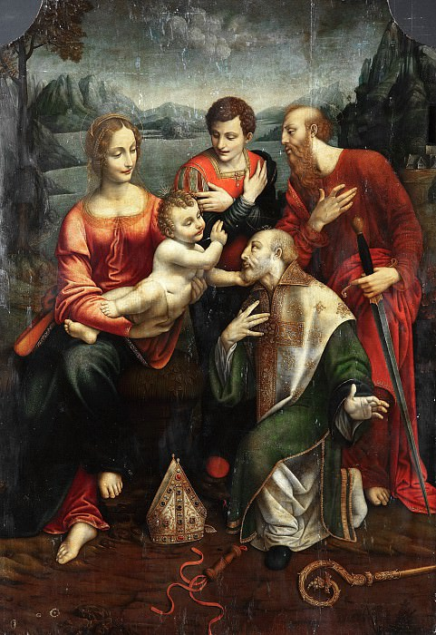 Fernando de Llanos - Mary with the Child and Saints Ambrose, Paul and George. Part 2