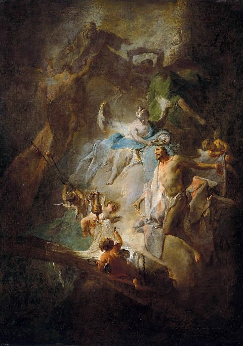 Franz Sigrist (1727-1803) - The arrival of the Savior in heaven. Part 2