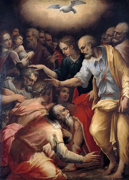 Giorgio Vasari (1511-1574) - The Apostles Peter and John Blessing. Part 2
