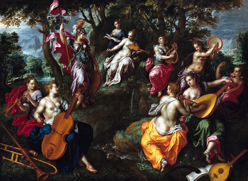 Hendrik de Clerck (c.1560-1630) - Minerva with the Muses. Part 2