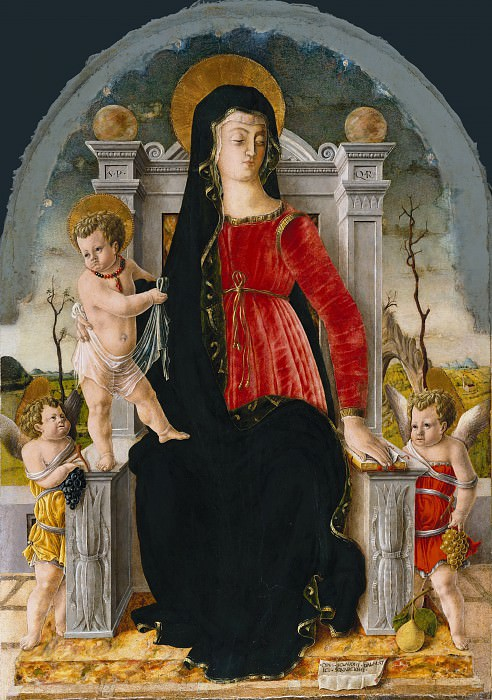 Giorgio di Tomaso Schiavone (1436-1504) - Enthroned Madonna with Child and Two Angels. Part 2