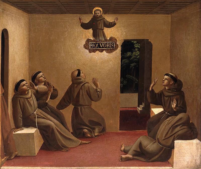 Алтарь Общества Святого Франциска, пределла - Явление святого Франциска в Арле. Фра Анджелико