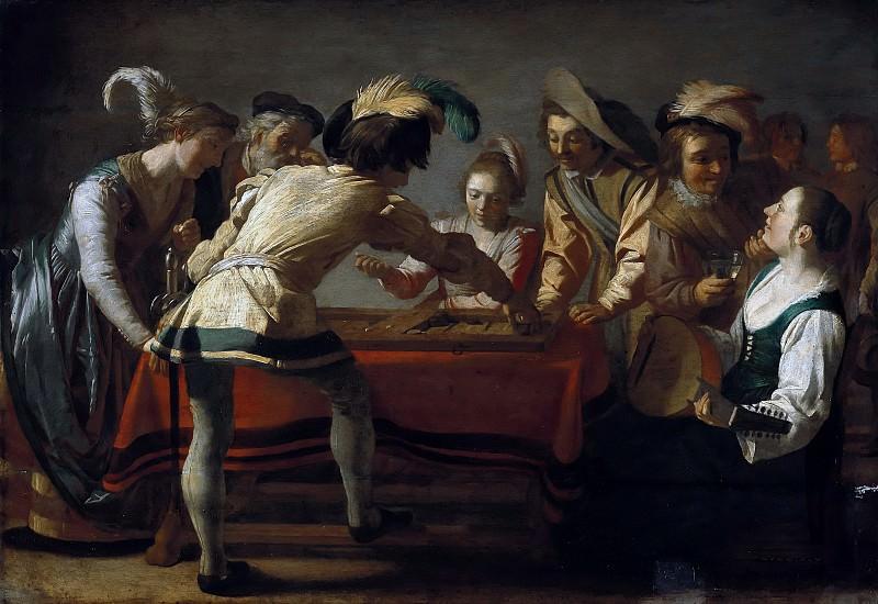 Gerrit van Honthorst (1590-1656) - The backgammon. Part 2