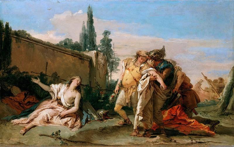 Rinaldo farewell to Armida. Giovanni Battista Tiepolo