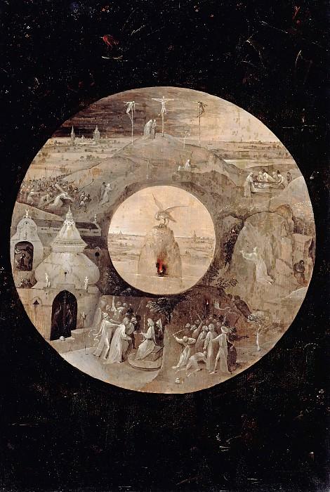 Босх, Иероним (c.1450-1516) - Иоанн Богослов на Патмосе (обратная сторона) - Страсти Христовы. Часть 2
