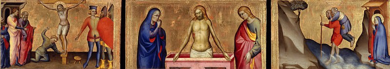 Giovanni del Biondo (1356-1398) - Three parts of a predella. Part 2